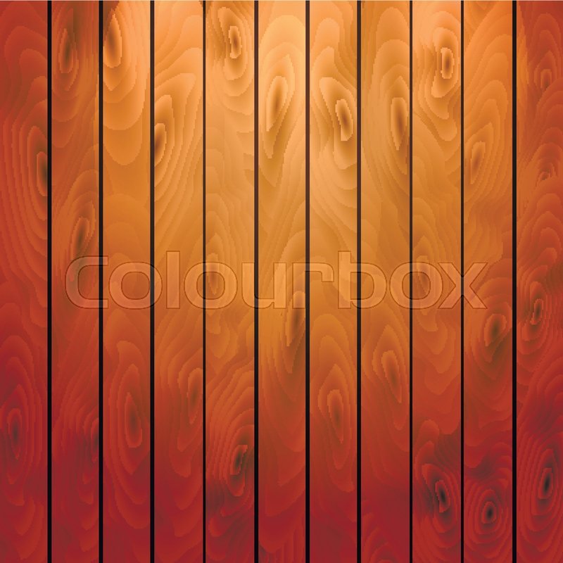 Cartoon Square Vector Background With Wooden Boards. Backdrop Of Wood Planks,  Vector