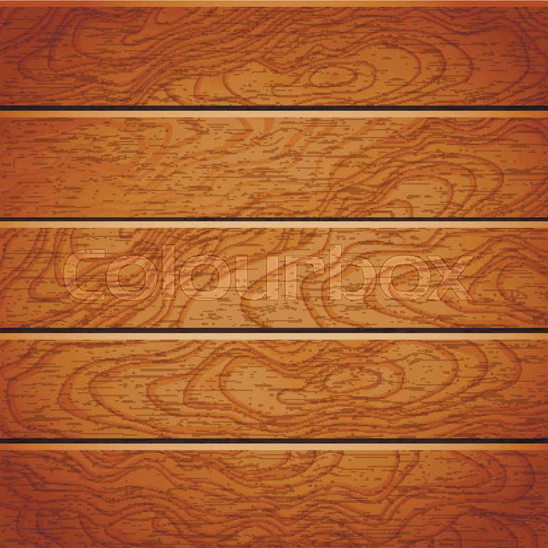 Cartoon Square Vector Background With Wooden Boards. Backdrop Of Wood Planks  | Stock Vector | Colourbox