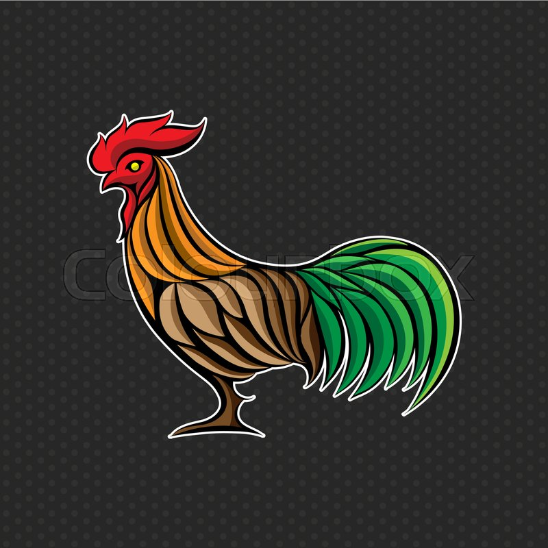 Rooster Logo Design Template Rooster Head Icon Vector Illustration