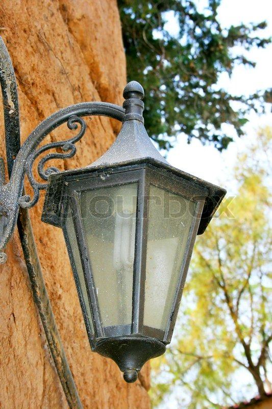 Folkekære Gammel lampe vintage væg | Stock foto | Colourbox VU-56