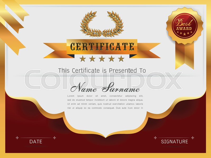 Graceful Certificate Template With Luxury And Modern Pattern