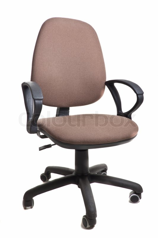 Office Chair On Wheels Isolated Object On A White Background