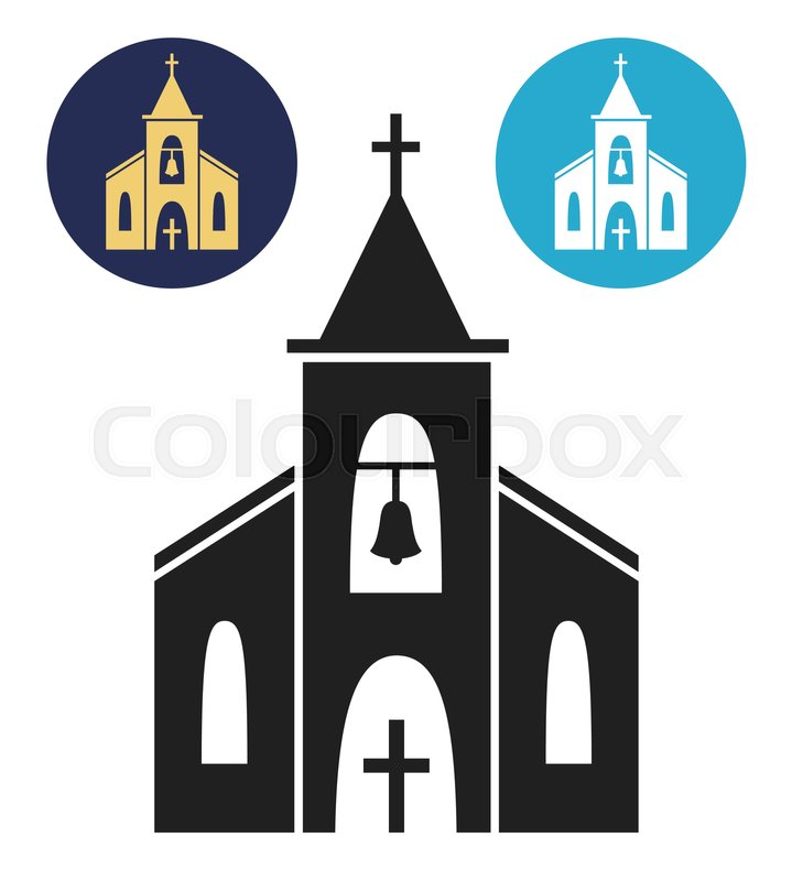 Church Icon Isolated On White Background Vector Illustration For