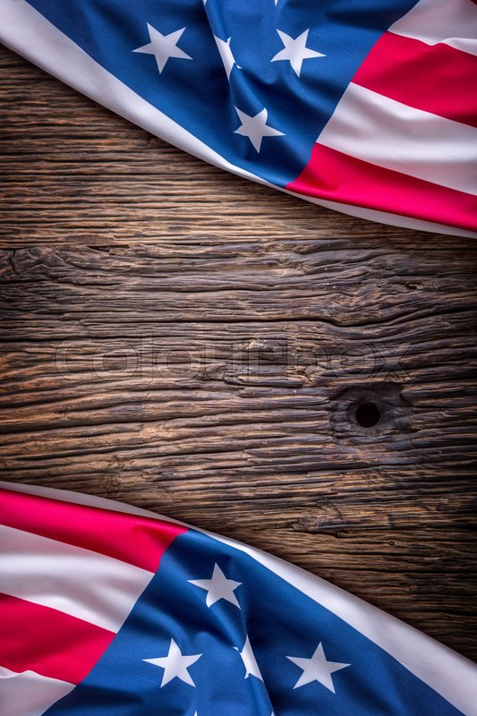 usa flag american flag american flag on old wooden background