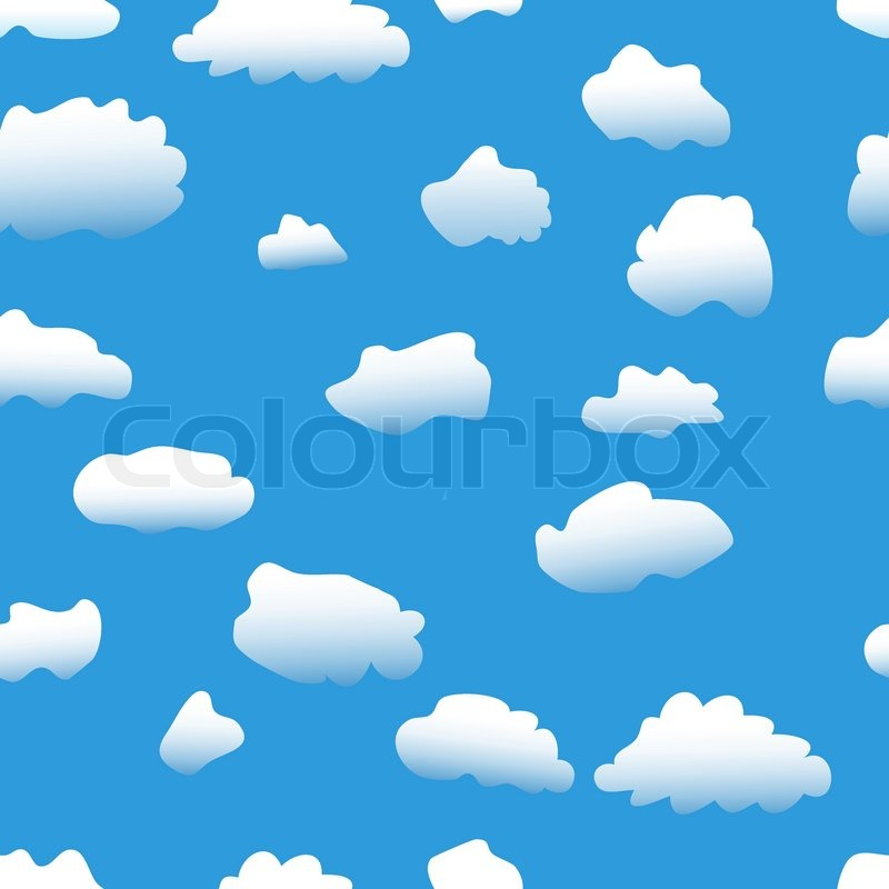 seamless vector background sky clouds wallpaper stock vector rh colourbox com vector skydiving vector skylines