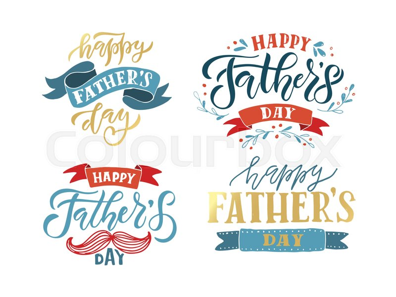 Hand drawn typography poster happy fathers day lettering hand drawn typography poster happy fathers day lettering typography on textured background for postcardcardinvitation greeting card for fathers day m4hsunfo