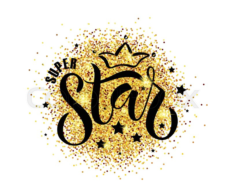 Vector Illustration Of Super Star Text For Boysgirls Clothes Super