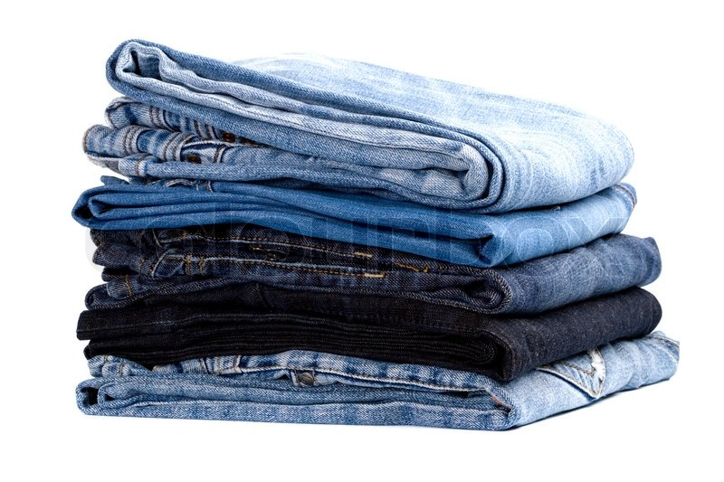 how to get jeans to stack