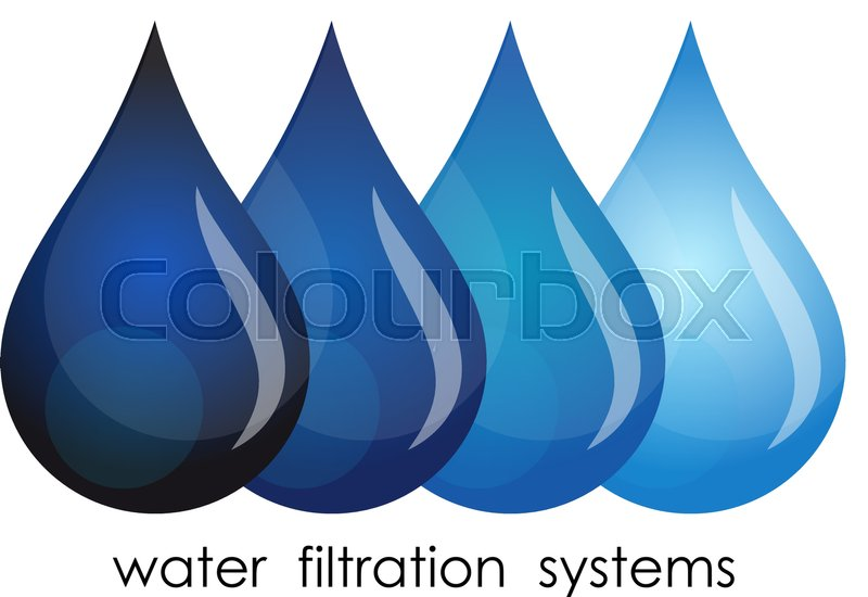Symbol For Water Purification Drops Of Water Grade Purification