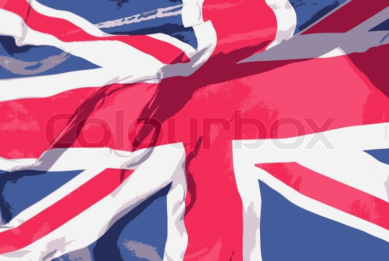 Box United Kingdom  city photo : The flag of the UK | Vector | Colourbox