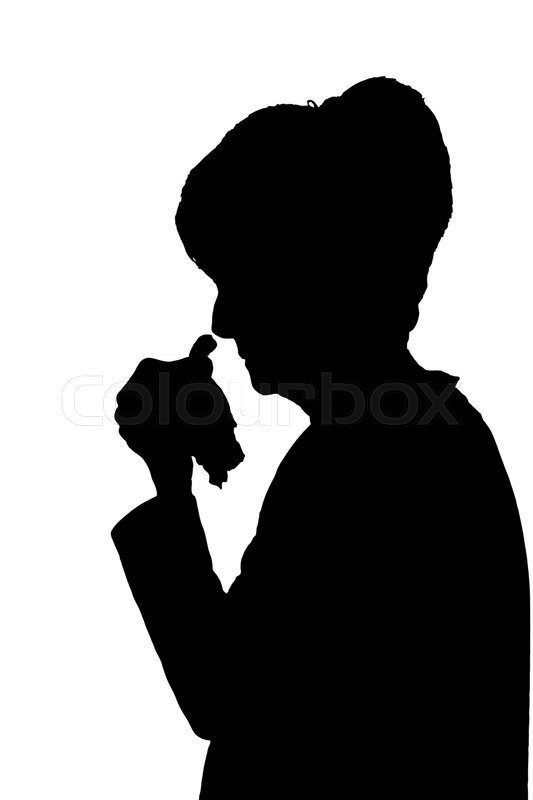 Image result for Silhouette of sick woman