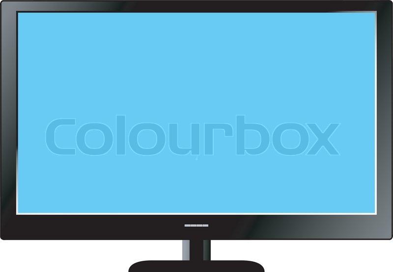 Fernseher Hintergrund illustration von led-fernseher auf weißem hintergrund | vektorgrafik
