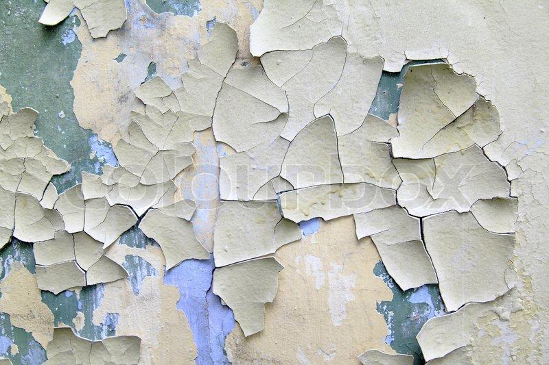 Alte Farbe Blättert Von Der Wand Close ...