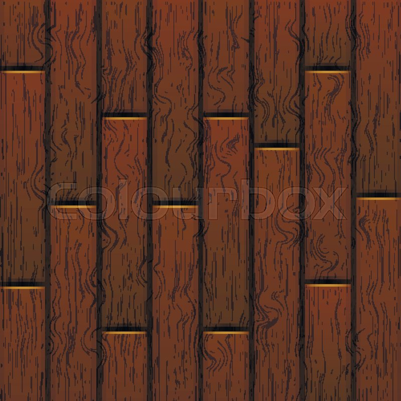 Cartoon Square Vector Background With Wooden Boards Backdrop Of Wood Planks
