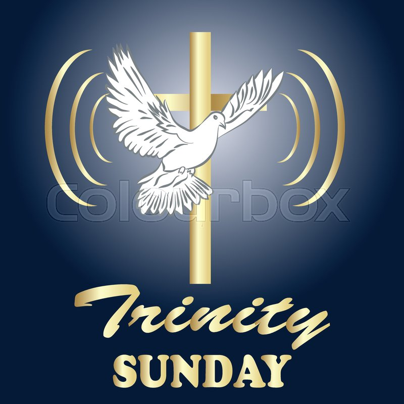 Trinity sunday  Christian church     | Stock vector | Colourbox
