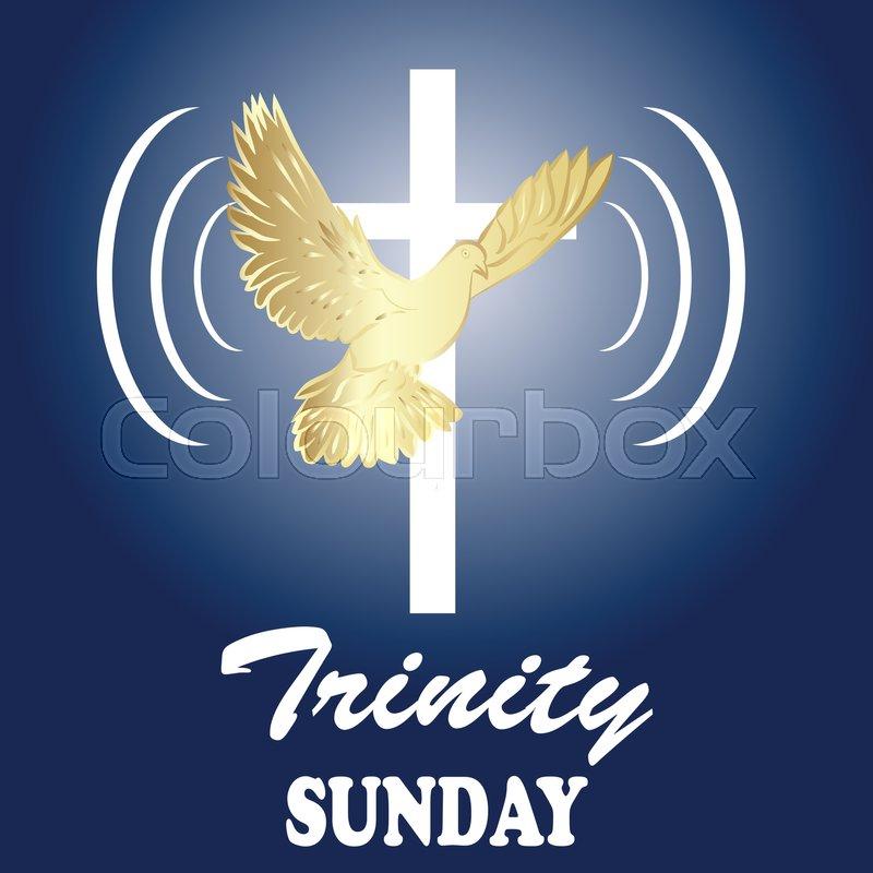Trinity sunday  Christian church       Stock vector   Colourbox