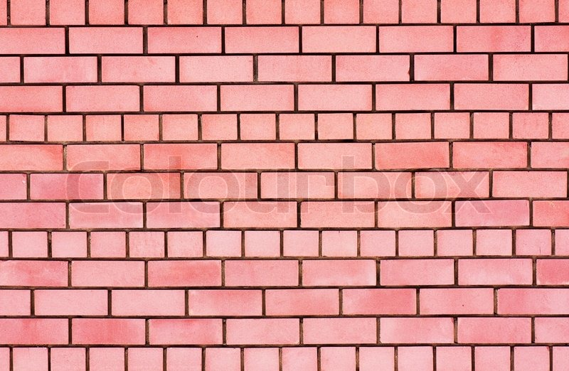 Brick Wall Background Design : The facade view of old brick wall for design