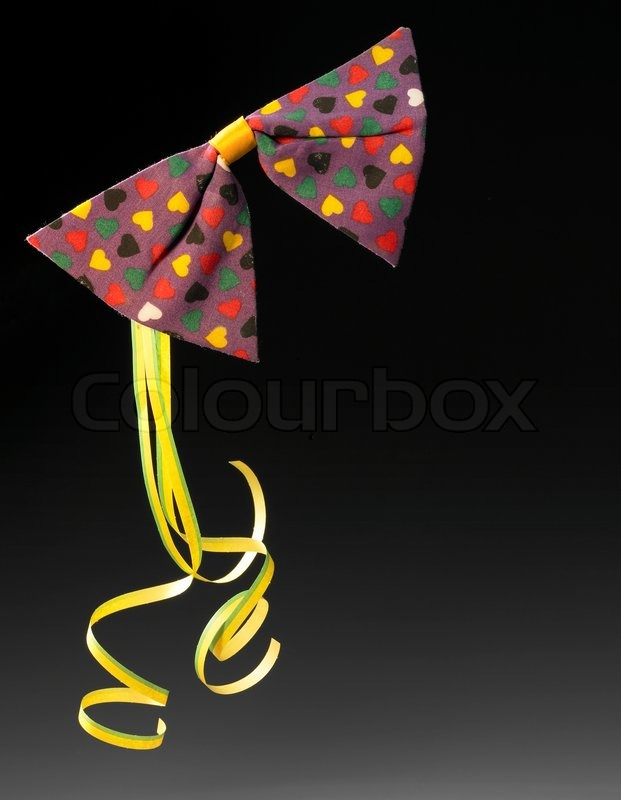 Symbolic Carnival And Party Background With Colorful Paper Blow Out