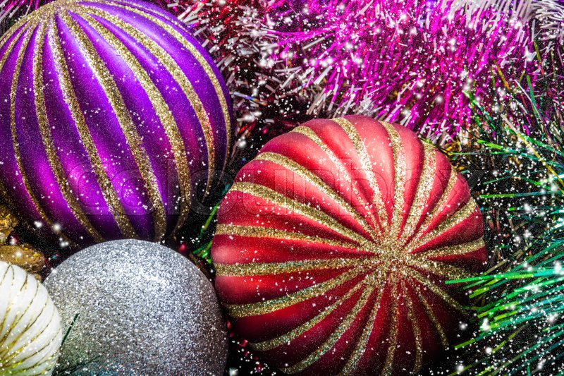 Christmas decorations close-up. Christmas picture, stock photo
