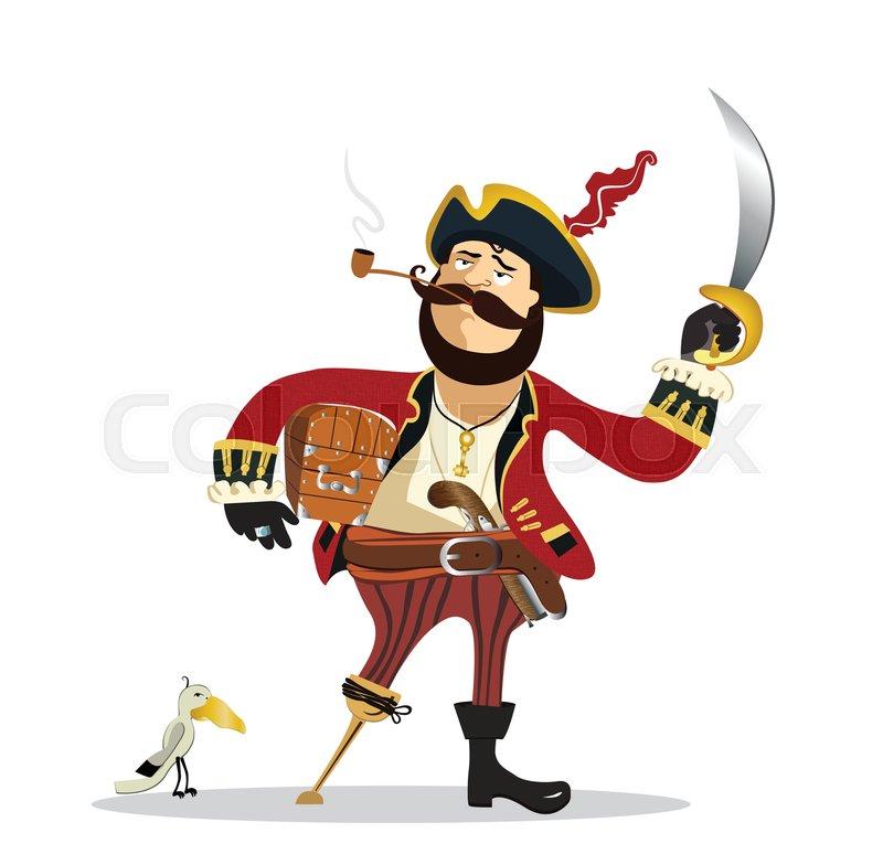 cartoon pirate stock vector colourbox rh colourbox com pirate cartoon pictures pirate cartoon images with speech player