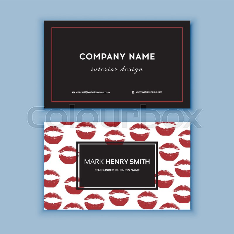 Makeup artist business card business cards template with red lips makeup artist business card business cards template with red lips print design templates for brochures flyers mobile technologies and online services cheaphphosting Images