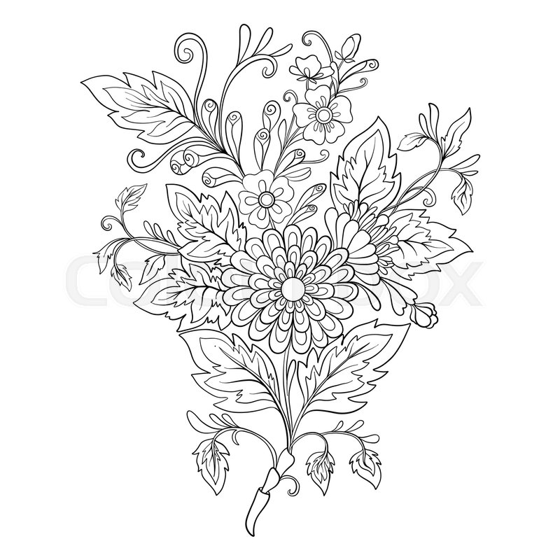 Bouqet Of Flowers Coloring Page