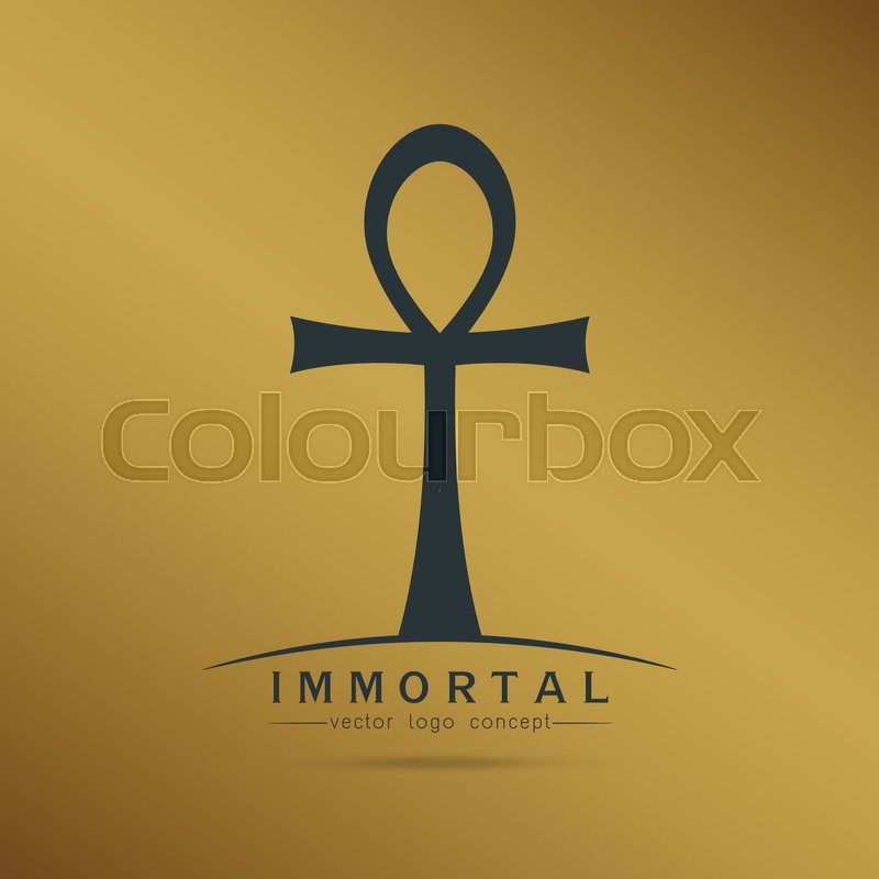 Symbol Of Immortal Ankh Egyptian Cross Of Pharaohs Vector