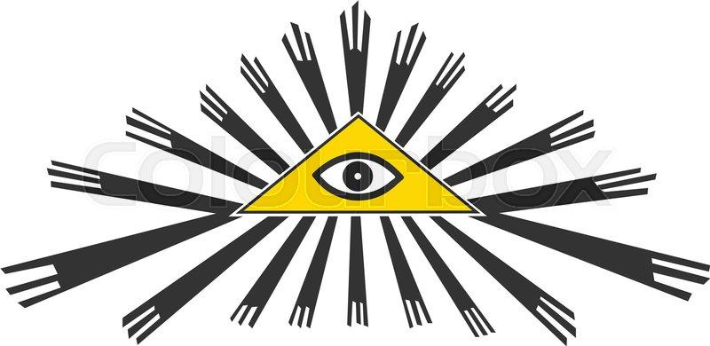 All Seeing Eye Symbol Vector Illustration Stock Vector Colourbox
