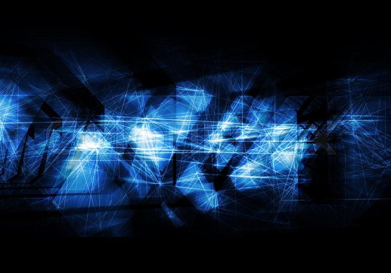 30 Light Effect Wallpapers To Liven Up Your Desktop: Abstract Dark Blue Artistic Digital Background, High-tech
