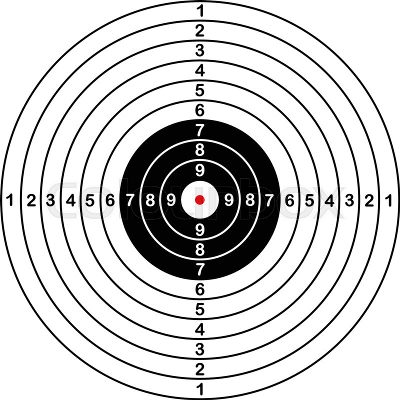 blank template for sport target vector shooting competition clean
