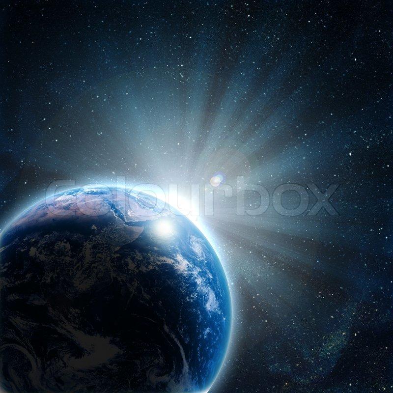 2665374 911193 blaue erde im weltraum mit aufgehenden sonne