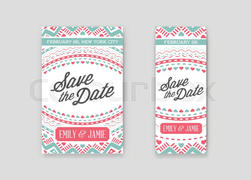 set of vector design awesome wedding invitation template with