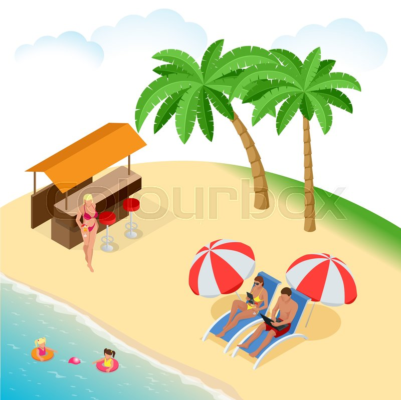 It s Summer time. Summer party concept. Fun, party, background, vector, picture, art, image, design, travel, poster, event, vector