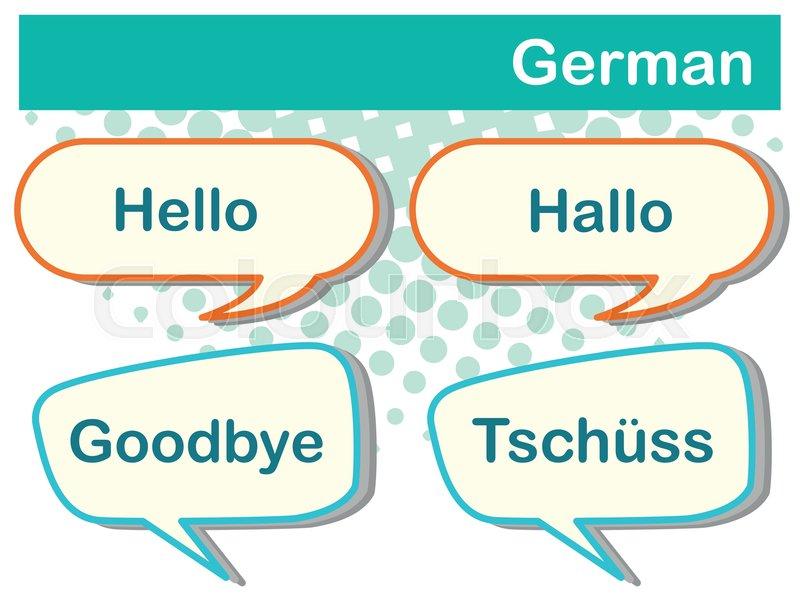 Greeting words in german languange illustration stock vector greeting words in german languange illustration stock vector colourbox m4hsunfo