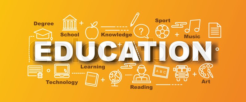 education vector trendy banner design concept modern style with