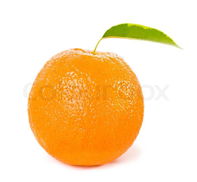 Orange Vegetables And Fruits Orange fruits with gre...