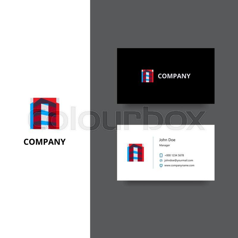 Vector eps logo design for architect or building company business vector eps logo design for architect or building company business card template icon design stock vector colourbox reheart Gallery