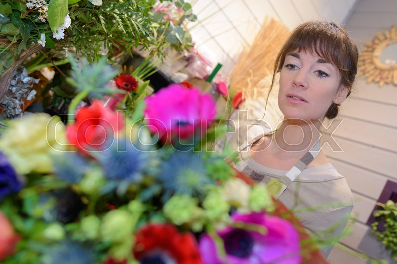 In the flower shop, stock photo