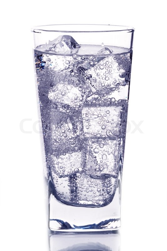 Glass with ice water isotated on white background | Stock ...