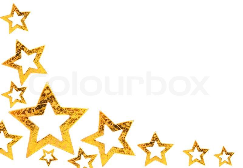 goldene weihnachtssterne hintergrund mit platz f r text stock foto colourbox. Black Bedroom Furniture Sets. Home Design Ideas