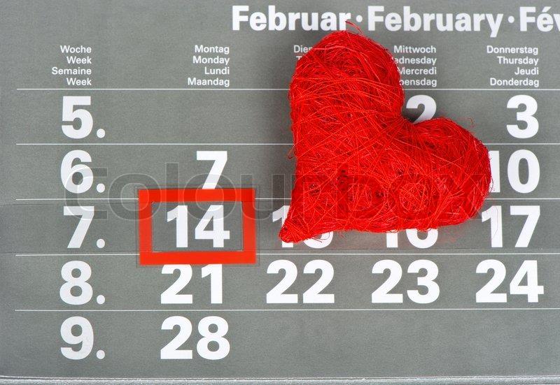 valentine's day 14. february. calendar | stock photo | colourbox, Ideas