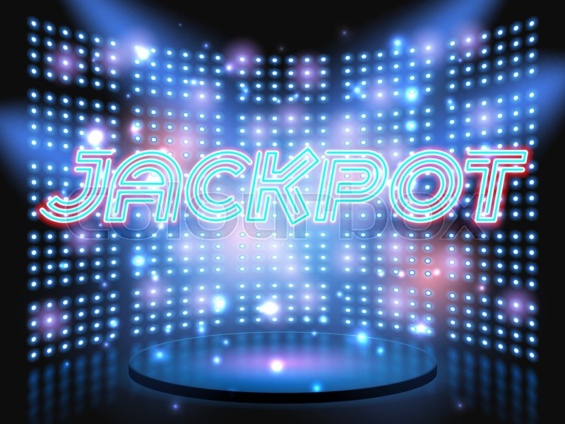 Jackpot casino win neon lettering live ... | Stock vector | Colourbox