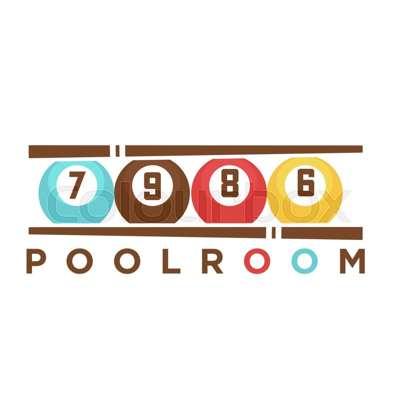 Sports Po Templates | Billiard Or Poolroom Club Logo Template Of Pool Cues And Balls With