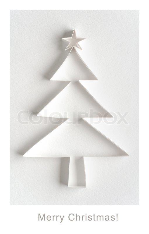 weihnachts gru karte weihnachtsbaum aus papier auf. Black Bedroom Furniture Sets. Home Design Ideas