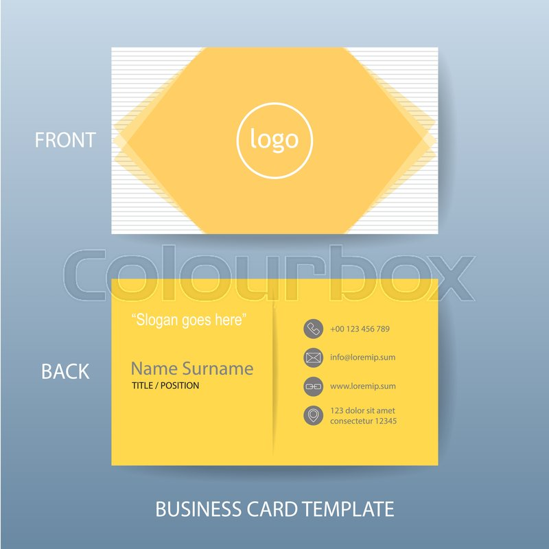 vector modern and clean business card name card design template in