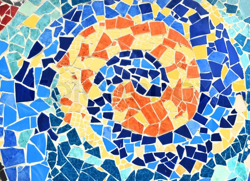 Mosaic Wall Decorative Ornament From Ceramic Broken Tile Stock - Broken ceramic tiles for sale