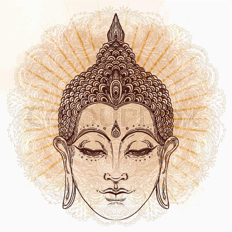 701c731b59f3e Buddha. Gold vector illustration ... | Stock vector | Colourbox