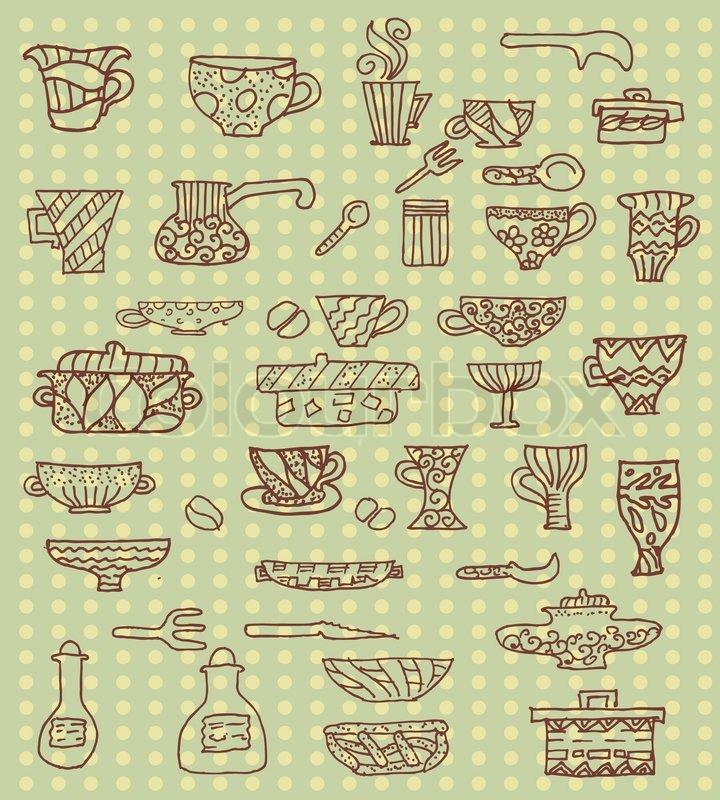 Küchenutensilien Hintergrund