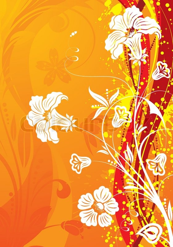 Grunge flower background with wave ... | Stock Vector ...