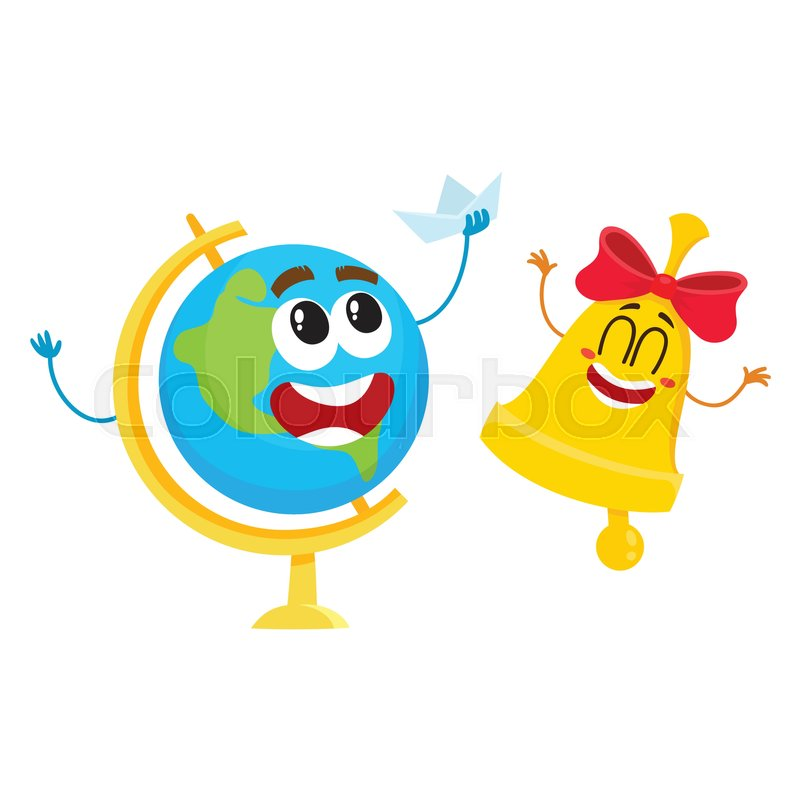 578401d61 Cute and funny smiling globe and ...   Stock vector   Colourbox